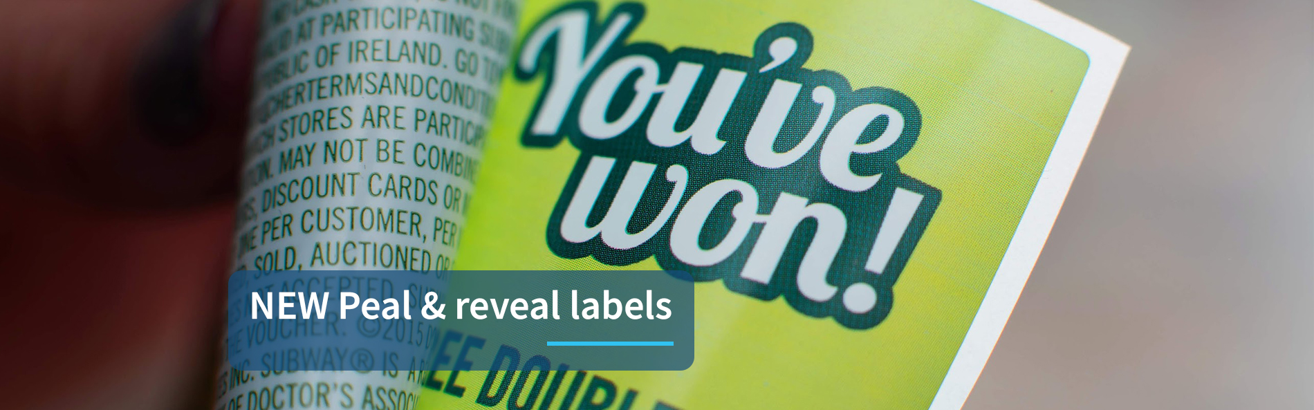 peal and reveal labels